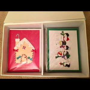 Hand crafted 16 Burgoyne holiday cards with box.